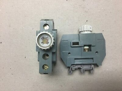 Entrelec MB10/24SF Fuse Holder with Fuses-Lot of 2