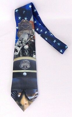 Ralph Marlin & Co. Harley Davidson Motorcycle Men's 1998 Police Force Neck Tie