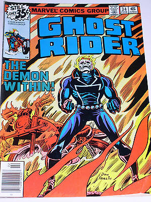 Ghost Rider #34  The Demon Within!  Bronze Age Marvel 1979
