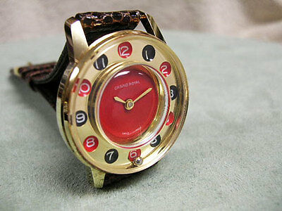 Vintage New Old Stock Casino Royal Roulette Wheel watch, MINT CONDITION!!!