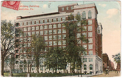 AK US USA Post Card Publishing Building PHILADELPHIA gelaufen 1914