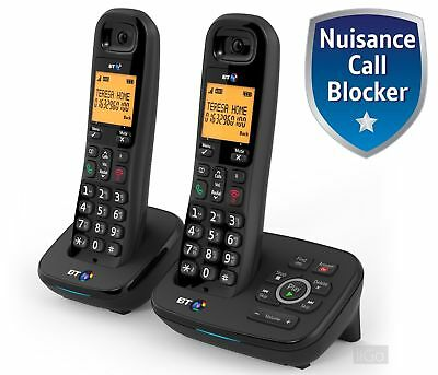 BT 1700 Nuisance Call Blocker Cordless Home Phone with Answer Machine Twin Pack