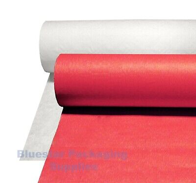 Banquet Roll Red White Embossed Paper Disposable Table Covers Wedding BBQ Party