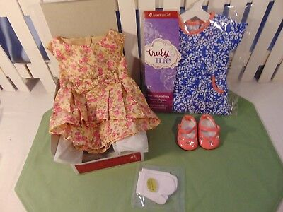 American Girl BeForever Melody Fancy Dress shoes Gloves AND Corduroy Dress NIB