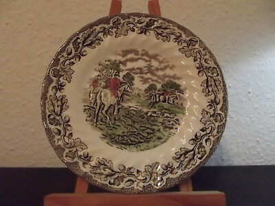 Jagdgedeck aus England Myotts Country Life Fine Staffordshire ware Made in Engla