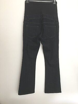 Maternity Over The Bump Flared Dark Denim Jeans Size 10 _ Leg 31""
