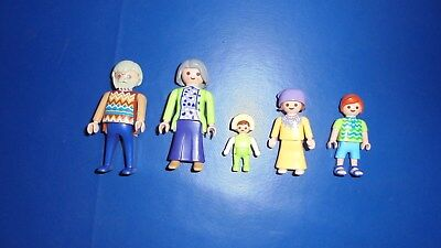 Playmobil Oma,Opa,Kinder,Baby, Puppenhaus,