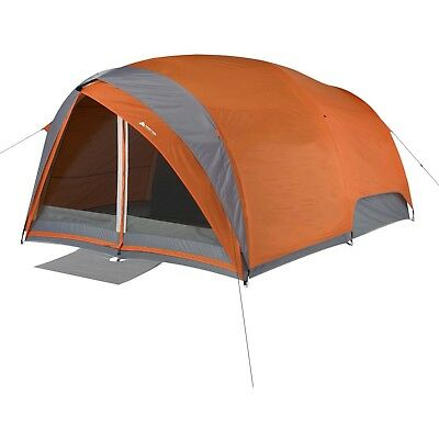 """Ozark Trail Camping Dome Tunnel Tent 2 Rooms and Doors 13'x9'x76"""" Max Prorection"""
