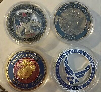 Military Army Marines Air Force Navy America Challenge Coin Set