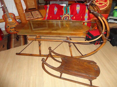 Vintage Victorian 1800's Sled with Matching Childs Sled