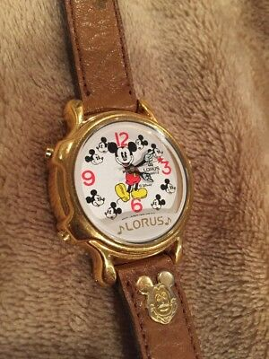 Lorus Disney Mickey Mouse Ladies Singing Wristwatch V422-0010 -Good Condition