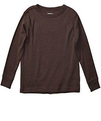 Leveret Boys Girls Brown Long Sleeve Solid T-Shirt 100% Cotton (Size 2T-14Y)