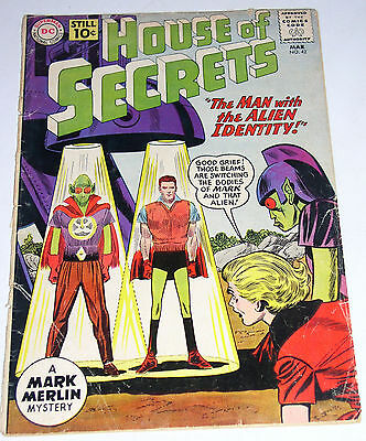 House Of Secrets #42  Silver Age 10 Cent Cover - Old School Dc Comic 1961