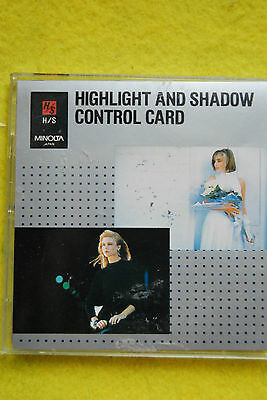 Minolta Highlight and Shadow Control Card H/S OVP