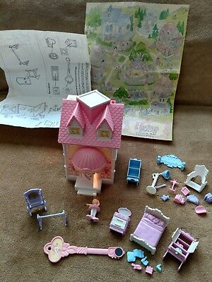 Vintage Fisher Price Precious Places Ballet Studio and Map and Extra Furniture