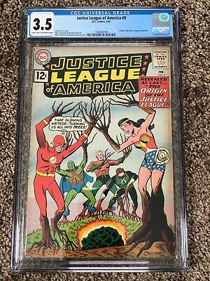 Justice League of America #9 - CGC 3.5 - Origin of Justice League (1962)