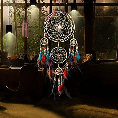 Large Dream Catcher Colorful Feathers Wall Home Office Hanging Ornament 31''