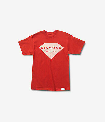 Diamond Supply Co Solid Stone Tee in Red M-XXL NWT