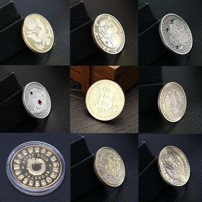 Gold Plated Commemorative Coin BTC Bitcoin Collectible Collection Physical Gift