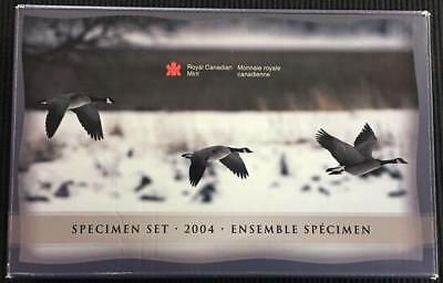 2004 Royal Canadian Mint Canada 7 Coin Specimen Set With Goose Loon Dollar