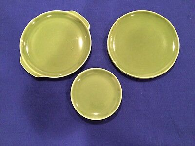 Mcm Universal Potteries Ballerina 7 Assorted Forest Green Plates