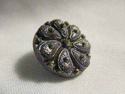 Antique Black Glass Lavender Flower
