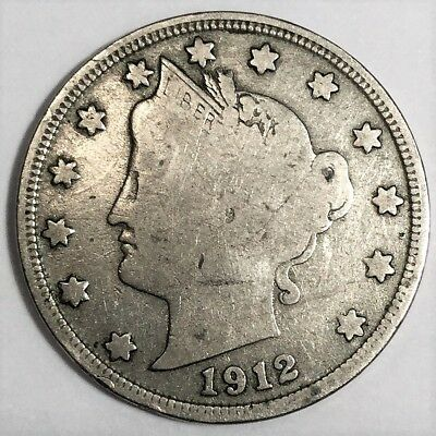 1912-S Liberty V Nickel Beautiful Coin Rare Date