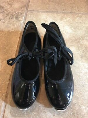 American Ballet Theater Girls Black Tap Shoes - Size 11