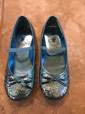 Child Blue Glitter Ballet Shoes by Rubies 881433