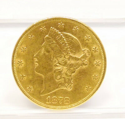 1878 S US Mint $20 Double Eagle Liberty Head 1oz Gold Coin UNC ~ Free Shipping
