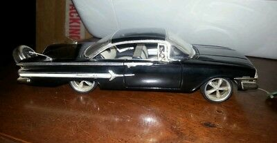 1960 CHEVY IMPALA LOW RIDER BLACK 1/32 Scale Diecast Model Car w/openable doors