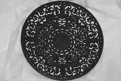 Buderus Cast Iron Filigree Wall Plate German Ornate Gothic Victorian Style