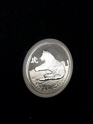 2010 Australia Perth Mint 1 oz Silver Lunar 2010 Year of the Tiger