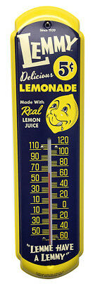 Lemmy Lemonade Soda Thermometer Vintage Old Style Sign