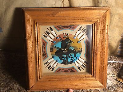 """Vintage Native American """"End of the Trail"""" Clock"""