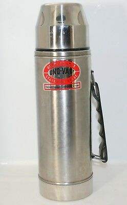 Vintage Uno Vac Unbreakable Stainless Steel Thermos 271-382 Hot and Cold