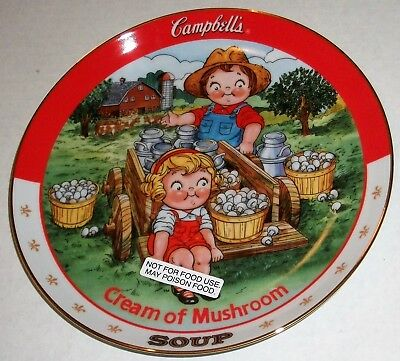 Danbury Mint - The Campbell Kids - Cream of Mushroom Soup Collector Plate