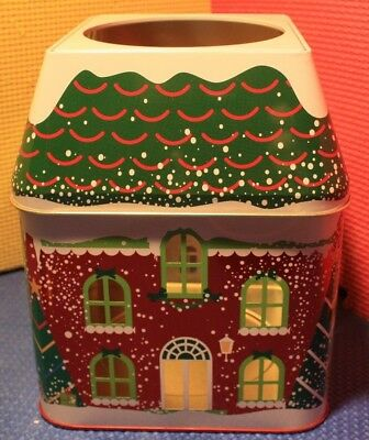 PartyLite Winter Village 3 Wick Candle Jar Tin P92586