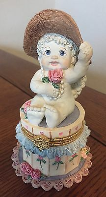 DREAMSICLES Dress Up Enclosed Jewelry Trinket Box Child Angel Figure Great Gift