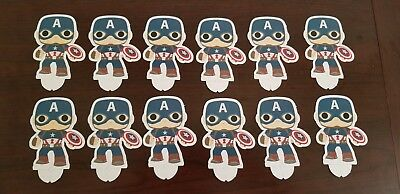 New! Sdcc 2016 Lot Of 12 Funko Pop! Tees Marvel Standees - Captain America