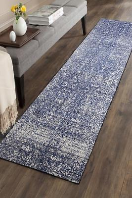 Hallway Runner Hall Runner Rug Modern Blue Cream 3 Metres Long Premium Edith 252