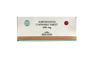 2-6 DAY SHIPPING - ALBENDAZOLE 400mg - USP - For Hook/Round Worm, etc. 60 Tabs