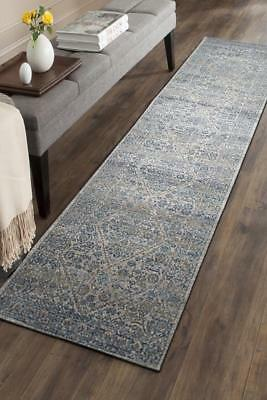 Hallway Runner Hall Runner Rug Modern Blue Grey 5 Metres Long Premium Edith 263