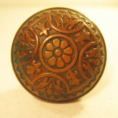 Decorative Brass Door Knob with Patina and Copper Finish