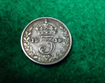 Great Britain Coin 1919 Three Pence Silver