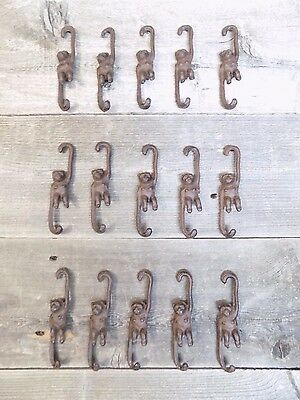 15 Small Cast Iron Monkey Plant Hooks Garden Hooks Hook Rack Hanger Home Decor