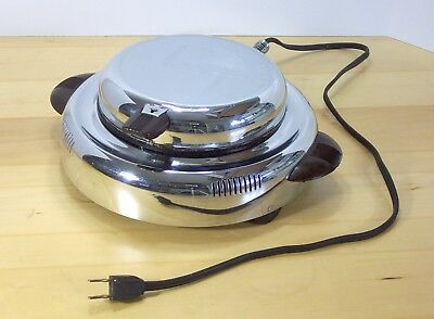Vintage Art Deco 1940's GE General Electric Waffle Maker Iron Grill Model 119W4