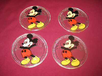 Mickey Mouse Drink Coasters, Collectibles, Souvenirs, Walt Disney, Vintage