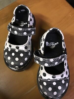 Dr. Martens Toddler Size 4 Poka Dotted Shoes