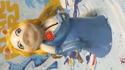 Vintage Muppets MISS PIGGY Coin Bank by Sigma - 1980s EXCELLENT Condition